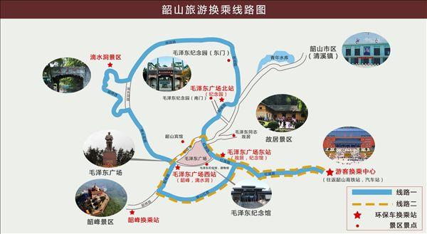 韶山旅游线路图